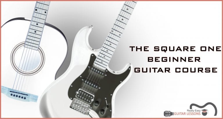 The logo for a free online beginner guitar course